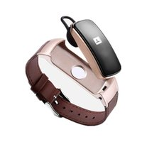 konuşan saatler toptan satış-2 in 1 Akıllı Watch Band Kulaklık GK-B3 ARTı Çok Fonksiyonlu Bilezik Müzik Çalar IOSAndroid için Konuşma Sağlık Monitör Dial