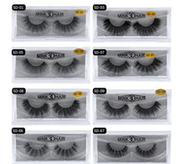 Wholesale individual mink lash extensions - stock MINK Eyelashes 11 styles Selling 1pair lot 100% Real Siberian 3D Full Strip False Eyelash Long Individual Eyelashes Lashes Extension