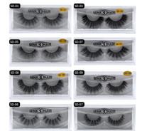 falsche wimpern großhandel-stock MINK Eyelashes 11 styles Verkauf von 1 Paar / Los 100% echte sibirische 3D Full Strip falsche Wimpern lange individuelle Wimpern Wimpernverlängerung