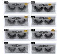 Wholesale individual eyelashes for sale - Group buy Stock MINK Eyelashes styles Selling pair Real Siberian D Full Strip False Eyelash Long Individual Eyelashes Lashes Extension