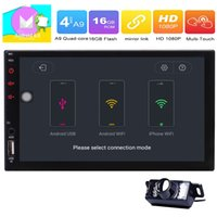 Wholesale mp3 mp4 mp5 android for sale - Double Din In Dash Head Unit Universal Android Marshmallow Car Stereo Radio GPS Navi Touchscreen MP5 Player USB input Bluetooth