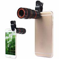 iphone мобильный объектив оптовых-Телескоп объектив 8x зум Unniversal оптическая камера телефото лен с зажимом для Iphone Samsung HTC Sony LG мобильный смартфон