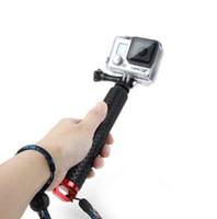 kamerahalterclip großhandel-Universal Stretchable Selfie Stick Einbeinstativ + Clip Holder Set Ausziehbarer Hand Selfie Stick Für GOPRO Sport Kamera
