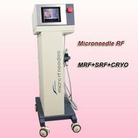 kullanılmış pimler toptan satış-2018 sıcak satış microneedle rf mikro iğne tedavisi makinesi cilt sıkma rf ev kullanımı 81,49,25 pins ve SRF ipuçları soğutma kolu