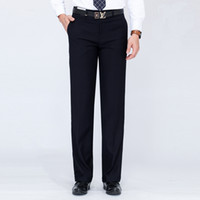 костюм для взрослых оптовых-Male Wool Formal Suit Pants 2017 Autumn Thick Trousers Straight Men Trousers Adult Business Dress Long Pants Different S