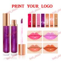 Wholesale lipstick moist for sale - Group buy 7 color liquid lipstick no logo Moist shimmer lip gloss new arrive EU US style make your private label