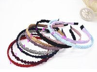 Wholesale girls party head accessories - 10pcs hair hoop head bands hair accessories for girls baby school dancing party basics hair bands headwear FG114