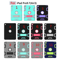Wholesale hard cover cases china online - For iPad Pro Air Hard Back Cases Heavy Duty Shockproof Kickstand Hybrid Robot Case Cover for New iPad Mini