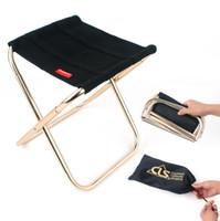 Wholesale Folding Chair Aluminum - Outdoor Fishing Chair Portable Folding Backpack Camping Aluminum Alloy Foldable Picnic Fishing Chair with Bag OOA5043