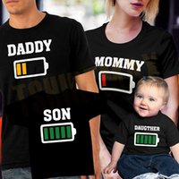 Wholesale father mother son daughter outfits for sale - Group buy Matching Family Tshirt Mother Father Son Daughter T shirt Outfits Mommy Daddy Kids Baby Tees Short Sleeve Print Tops Family Look