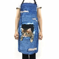 Wholesale kitchen apron fashion for sale - Group buy Fashion Forudesigns Funny Space Galaxy Cats with Pizze Blue Kitchen Aprons for Men Women Black Cute Colorful Horse Taco Cat Tumblr Apron