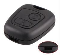 citroen c4 için kilit durum toptan satış-2 Düğme Uzaktan Araba Anahtarı Durum Kabuk Fob Için Citroen C1 C2 C3 Pluriel C4 C5 C8 Xsara Picasso Kapak Ücretsiz Kargo