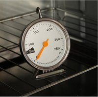 el temporizador mecánico más pequeño al por mayor-Cocina Horno eléctrico Termómetro Acero inoxidable Horno de cocción Termómetro Herramientas especiales para hornear 50-280 ° C