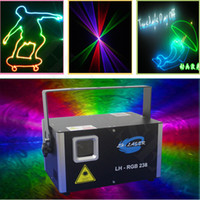 Wholesale Dj Laser Systems - Free Shipping 1.5w analog 45kpps RGB Top quality and good price new mini laser light, outdoor christmas laser light system