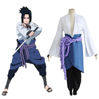 Wholesale naruto cosplay online - Naruto cosplay Shippuden Sasuke Uchiha generation cos clothes Naruto Cosplay rd ver Costume Suit with Nursing