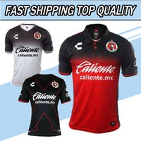 Wholesale Corona Black - TOP QUALITY 17 18 Mexico Club LIGA MX 3rd Xolos de Tijuana 2018 Charly Third Home away Soccer Jersey Black CORONA LUCERO MALCORRA football s