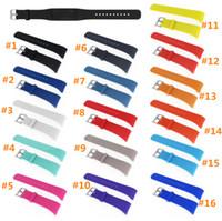 pulsera de engranaje al por mayor-Banda deportiva de silicona DHL para Samsung Gear Fit 2 SM-R360 Banda de ejercicios, pulsera de goma portátil, correa de muñeca R360