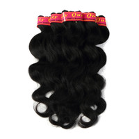 Wholesale shiny black hair online - Brazilian Body Wave Hair Extensions Bundles Color b Human Hair Weaves Inches g Bundle Tight and Shiny Factory Price