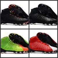 Wholesale New Cheap Soccer Cleats - 2018 New Mens Mercurial Superfly CR7 V AG FG Football SHOES CHEAP High Ankle Magista Obra II ACC Soccer Shoes Soccer Cleats