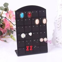 Wholesale Pair Bracelets - NEW 24 pairs Earrings Display Stand Convenient Jewelry Holder ShowCase Tool for Charming Women Rack one