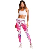 Wholesale yoga pants tights online - New Sale Pink Printed Women Leggings Sport Fitness High Waist Gym Yoga Pants Breathable jogging Femme Exercise Tights Trousers