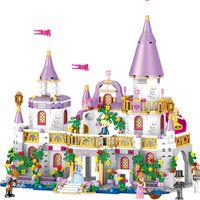 baustein freunde großhandel-731pcs Romantisches Schloss Prinzessin Freund Mädchen Building Blocks Bricks für Kinder Sets Spielzeug Kompatibel mit LeGOINGlys Freunde Geschenk