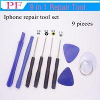 Wholesale open mobile tool resale online - 9 in Mobile Phone Repairing Tool Kit Spudger Pry Opening Tool LCD Repair Tools with screwdrivers for Iphone tool