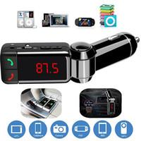usb-tuner für android großhandel-Neues Auto LCD Bluetooth Auto Kit MP3 FM Transmitter Hände frei USB Ladegerät für iPhone Samsung HTC Android