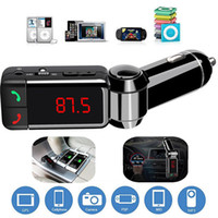bluetooth hands iphone venda por atacado-Novo carro lcd bluetooth car kit mp3 fm transmissor mãos free usb carregador para iphone samsung htc android