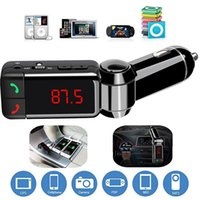 nuevo iphone lcd al por mayor-Nuevo Coche LCD Bluetooth Car Kit MP3 Transmisor FM manos libres Cargador USB para iPhone Samsung HTC Android