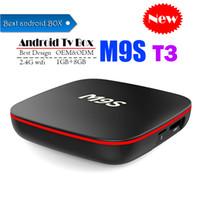 ingrosso la migliore casella tv mxq-Il migliore M9S T3 Allwinner H3 1G 8G Android 7.1 TV BOX Quad Core Ultra HD H.265 4K Stream Media Player Migliore Amlogic S905W MXQ PRO TX3 X96 mini
