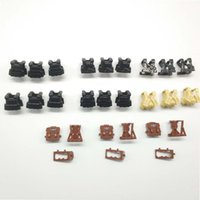 Wholesale toy military soldiers online - SWAT Body Armor Accessories Bricks WW2 Military Soldiers Weapons Assemble Particles Building Blocks Toy for Children