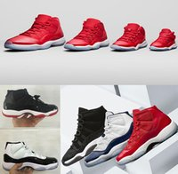 Wholesale Cheap Sneaker For Men - 2018 New Cheap men Spaces Jams concord 45 retro 11 GYM red blue UNC Basketball Shoes Sneakers for mens Sports Shoes