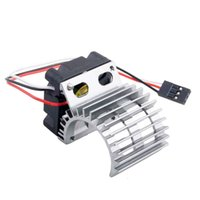 Wholesale Electric Motor For Fan - RC HSP Gray Alum 380 390 Motor Heat Sink DC 7.2V Brushless Fan For 1:16 Truck