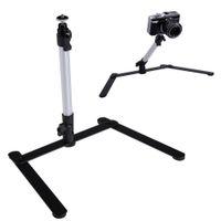 ayarlanabilir kamera standları toptan satış-Ayarlanabilir Masa Üstü Alüminyum Kamera DSLR Dijital Kamera L3EF için 1 Esnek Standlı Mini-Monopod