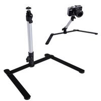suportes ajustáveis da câmera venda por atacado-Mini-monopé ajustável da câmera do alumínio da parte superior de tabela com 1 suporte flexível para a câmera digital L3EF de DSLR