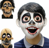 Wholesale full figure online - COCO Movie Mask Cosplay Hector Rivera Latex Halloween Party Mask Action Figure Collectible Model mask KKA6059