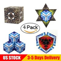 Wholesale educational toys for kids online - Euclidean Cube Pack Magnetic Transforming Geometric Building Toys Magic Cubes Nautilus Educational STEM Toys For Kids US STOCK B