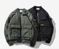Wholesale vintage mandarin jacket for sale - Group buy New Arrival Eur US MA1 Men s Bomber Jacket Vintage Pilot Jacket With Big Pocket Windbreaker Jacket Outwear Coat