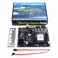 placa base de envío gratis al por mayor-Freeshipping A55 Desktop Motherboard Motherboard soporta para Gigabyte GA A55 S3P A55-S3P DDR3 Socket FM1 Gigabit Ethernet Mainboard envío gratis