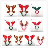 Wholesale reindeer head for sale - Group buy christmas Reindeer antler Hairband Bell Deer Horn headbands Ear head Hoops Halloween Party festival Decorations women kids children wear hot