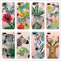 Wholesale phone cases zebra online – custom Transparent Soft Tpu Case for Iphone X plus Samsung Galaxy S7 edge s8 Note Zebra Animal Cartoon Phone Cases Skin Cover Ulta Thin