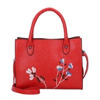 a89331ce9 Laamei bolso de la manera de las mujeres bolso de hombro bordado viento  nacional bolso de mensaje de cuero femenino por la noche señora bolso