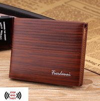 Wholesale Open Paragraph - Fashion Mens Wallet Short paragraph high quality and security RFID leather wallet multi-card business leather goods