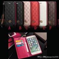 Wholesale leather hand straps - Case for iphoneX 7 8 plus embossed flip wallet case for iphone6 6S plus luxury brand phone case forSamsung s8 s9 plus with hand strap