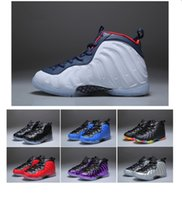 Wholesale birthday for boys - 2018 New Kids Penny Hardaway Basketball Shoes Foam One Fruity Pebbles Olympic USA Eggplant Royal Boys Girls Sport Sneakers for Birthday Gift