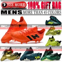Wholesale Tie Up Leather Boots - Original New 2017 Low Soccer Shoes ACE 17.1 Purecontrol FG Football Boots Nemeziz Messi 17.1 FG TF IC Indoor Soccer Cleats X 17 Purechaos