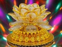 fleurs de lotus décoratives achat en gros de-Led petit soleil en rotation lotus bouddha lumière lotus coloré fleur ktv bar vacances lanterne décorative AC85v-250v
