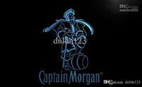 captain morgan neon barra de luz venda por atacado-LE138- Captain Morgan Spiced Rum Bar NR levou sinal de luz de néon