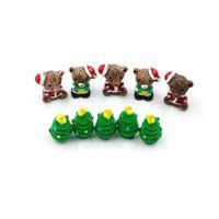 рождественские феи куклы оптовых-Смола Рождественский медведь / деревья цифры миниатюрные / Фея сад фигурка куклы дом детские игрушки DIY микро пейзаж аксессуары